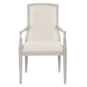Criteria Heather Gray Wood and Fabric 24-Inch Arm Chair