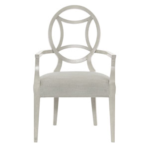 Criteria Heather Gray Wood and Fabric Arm Chair