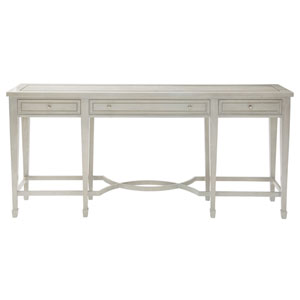 Criteria Heather Gray Ash Solids, Ash Veneers and Stainless Steel Console Table