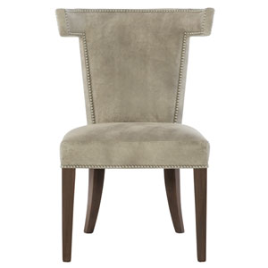 Interiors Cocoa Wood and Leather 26-Inch Dining Chair