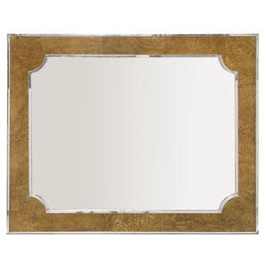 Soho Luxe Dark Caramel and Silver 36-Inch Mirror