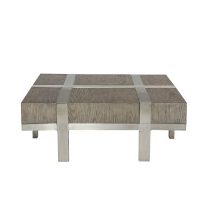 Leigh Gray and Chrome 46-Inch Cocktail Table