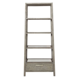 Interiors Rustic Gray and White Plaster Oak Solids and White Oak Veneers Etagere