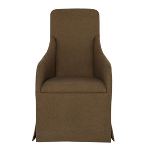 Interiors Cocoa Wood and Fabric Dining Chair