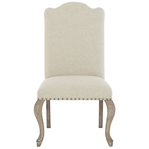 Campania Weathered Sand Wood and Fabric 24-Inch Dining Chair