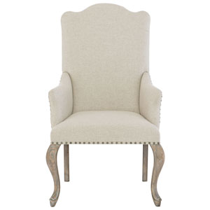 Campania Weathered Sand Wood and Fabric 26-Inch Dining Chair