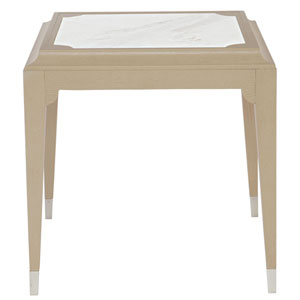 Savoy Place Chanterelle and White 24-Inch End Table