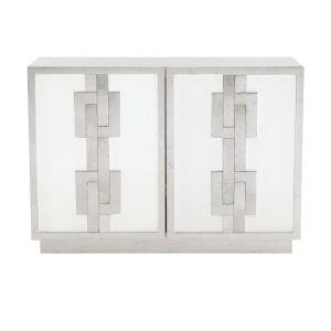 Odell White 48-Inch Door Chest