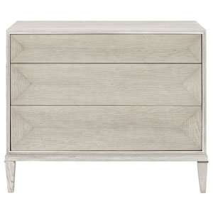 Domaine Blanc Dove White  Oak Solids, White Oak Veneers and Metal Bachelor Chest