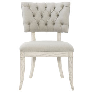 Domaine Blanc Dove White Solid Oak and Fabric 23-Inch Dining Chair