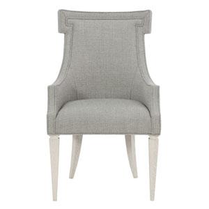 Domaine Blanc Dove White 24-Inch Arm Chair