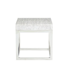 Arctic White End Table