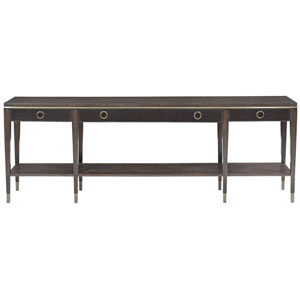 Clarendon Arabica and Burnished Brass 84-Inch Console Table