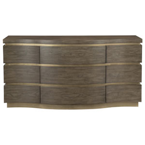 Profile Warm Taupe and Tapestry Gold Walnut Veneers Dresser