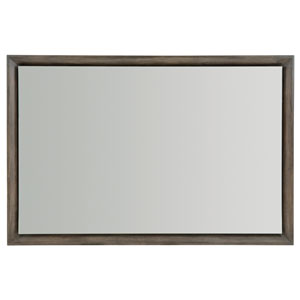 Profile Warm Taupe Wood and Mirrored Glass Mirror