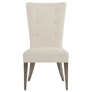 Profile Warm Taupe Wood and Fabric 23-Inch Dining Chair