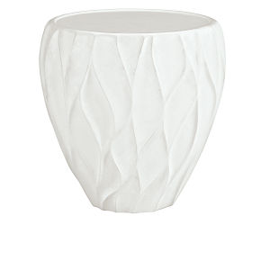Giselle White Chairside Table