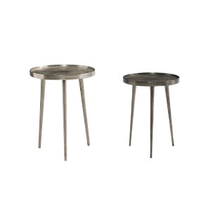 Lex Charcoal Nesting Tables, Set of 2
