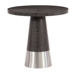 Decorage Cerused Mink Round End Table