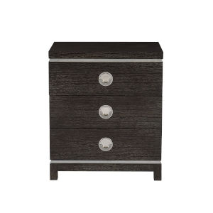 Decorage Cerused Mink and Silver Mist 26-Inch Two Drawer Nightstand