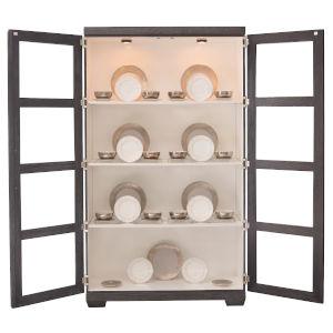 Decorage Cerused Mink Display Cabinet