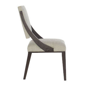 Decorage Solid Ash and Cerused Mink Upholstered Dining Chair