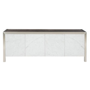 Decorage stainless steel and Silver Mist Entertainment Console