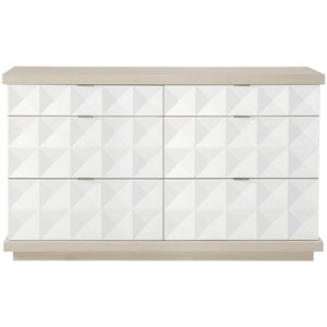 Axiom Linear Gray and Linear White Dresser