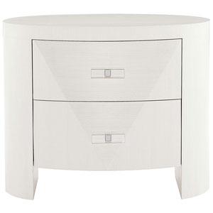 Axiom Linear White Poplar Solids and Engineered Faux Anigre Veneers Nightstand