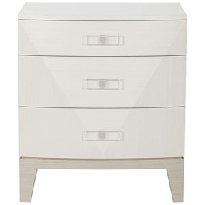 Axiom Linear Gray and Linear White 26-Inch Nightstand