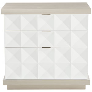 Axiom Linear Gray and Linear White Nightstand
