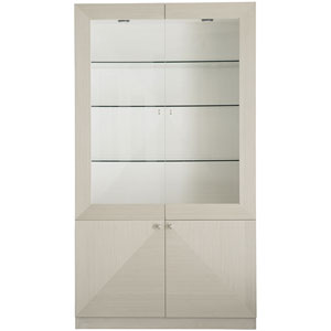 Axiom Linear Gray and Linear White 48-Inch Display Cabinet