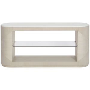 Axiom Linear Gray and Linear White 64-Inch Console Table