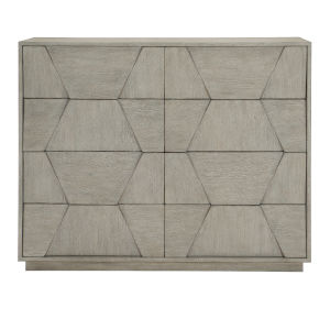 Linea Gray Eight-Drawer Dresser