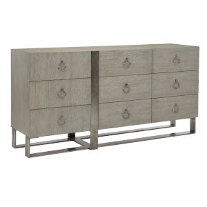 Linea Gray Nine-Drawer Dresser