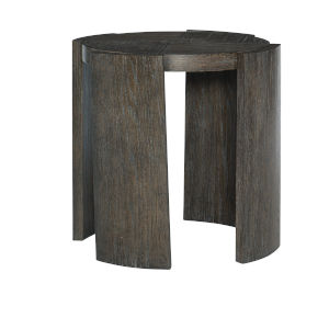 Linea Charcoal Chairside Table