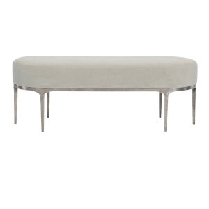 Linea Light Gray Two-Seater Bench