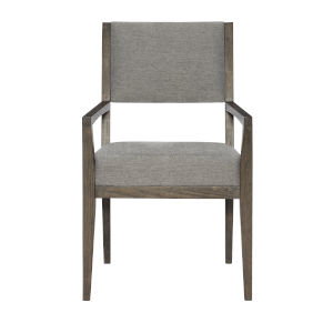 Linea Gray Dining Upholstered Arm Chair