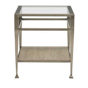 Santa Barbara Sandstone Vintage Nickel Metal End Table