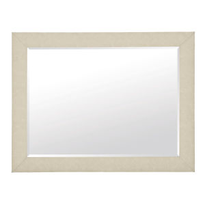 Santa Barbara Sand Wood Fabric and Mirrored Glass Mirror