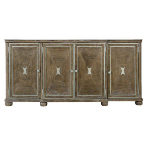 Rustic Patina Peppercorn Four-Doors Buffet