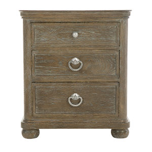 Rustic Patina Peppercorn Three-Drawer Nightstand