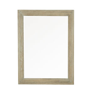 Rustic Patina Sand Wood Frame 50 x 38 Inches Mirror