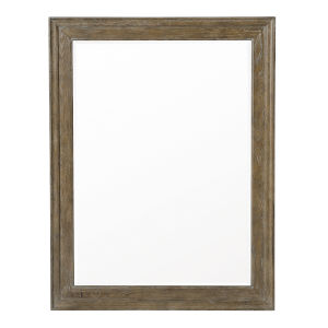 Rustic Patina Peppercorn Wood Frame 50 x 38 Inches Mirror