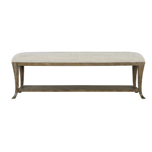 Rustic Patina Distressed White Bench