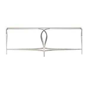 Silken Pearl Calista Metal Oval Cocktail Table