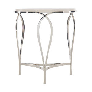 Silken Pearl Calista Metal Round Accent Table