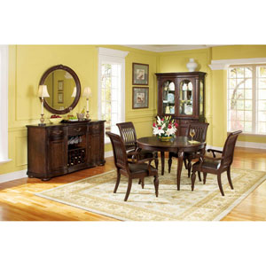 Belmont Dark Brown Rogue Cherry Veneers and Leather Dining Chair