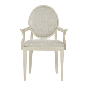 Light Gray East Hampton Oval Back Arm Chair
