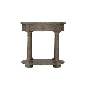 Taupe Canyon Ridge Round Side Table